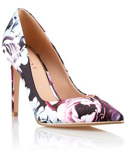 Floral Pointed Court Shoes