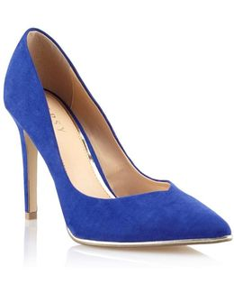 Suedette Pointed Court Shoes