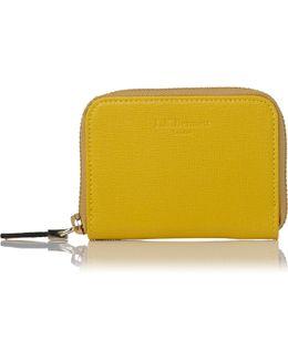 Rea Yellow Leather Purse