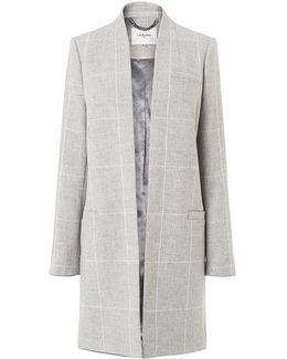 Belize Grey Check Coat