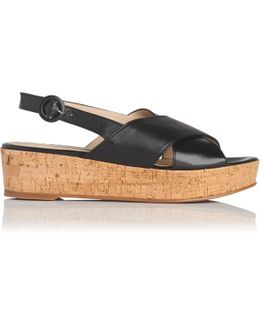 Klara Black Leather Sandals