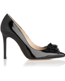 Phoebe Black Patent Leather Courts