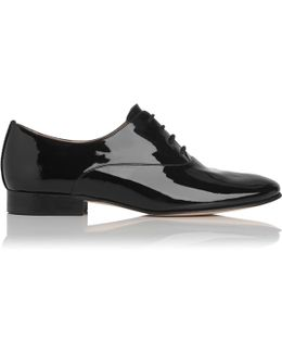 Isabelle Black Patent Leather Oxfords