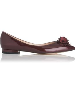 Poppie Oxblood Patent Leather Flats