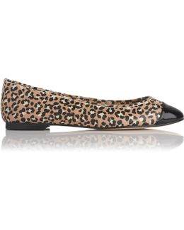 Suzanne Animal Printed Leather Flats