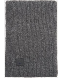 Bansy Large Face Scarf In Charcoal Mélange