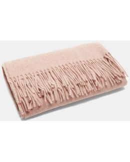 Canada Fringed Scarf In Pink Mélange