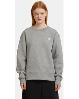 Fairview Oversized Face Embroidered Sweater In Grey