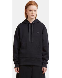 Ferris Face Motif Hooded Sweater In Black