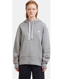 Ferris Face Motif Hooded Sweater In Grey