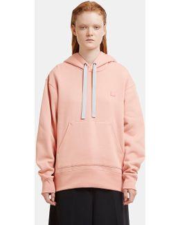 Ferris Face Motif Hooded Sweater In Pink
