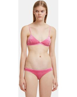 Mississippi Triangle Bra In Pink