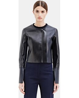Women's Cepin Leather Jacket From Ss15 In Black