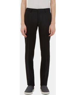 Men's Exact Slim Leg Wool Pants In Black