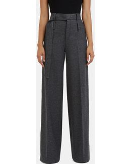 Women's Huranal Wide Leg Wool Pants In Grey