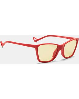 Keiichi Small Sunglasses In Red And Yellow