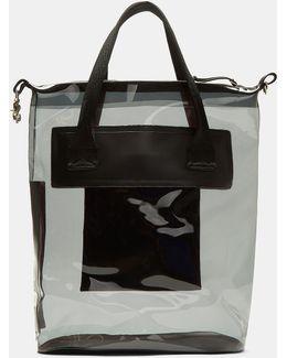 Void Transparent Waterproof Tote Bag In Navy