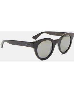 Men's Round Sunglasses In Black