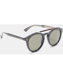 Round Frame Gg0124s Acetate Sunglasses