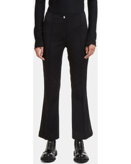 Cropped Flared Pants In Black