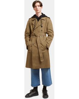 Men's Rainbow-stitched Trench Coat In Khaki