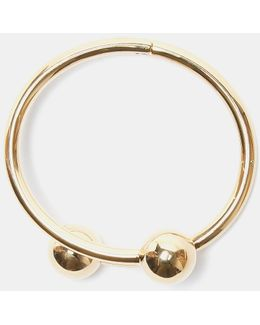 Double Ball Bangle In Gold