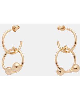 Piercing Earrings In Gold