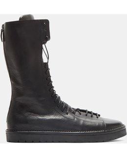 Sancrispa Alta Toscano Laced Calf Length Boots In Black