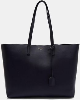 Large Shopping Tote Bag In Navy