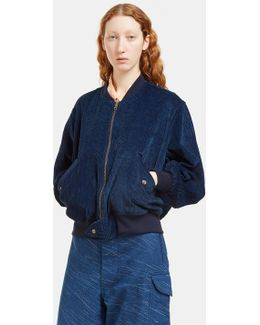 Women's Seed Reversible Bomber Jacket In Indigo