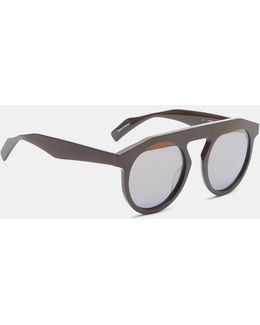 Yy5017 Oversized Matte Sunglasses In Brown