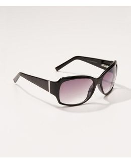 Tortoiseshell Print Square Sunglasses