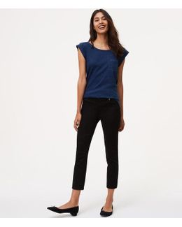 Petite Modern Kick Crop Jeans In Black