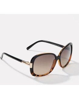Tortoiseshell Print Glam Sunglasses