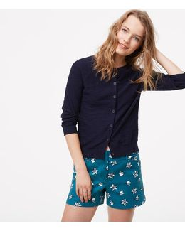 "Petaled Riviera Shorts With 4"" Inseam"