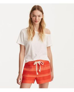 Lou & Grey Striped Brushed Linen Shorts