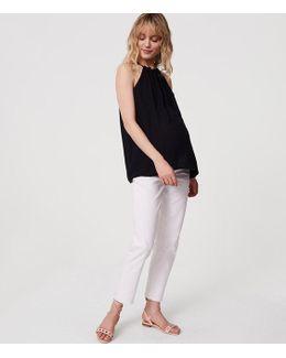 Maternity Boyfriend Jeans In White