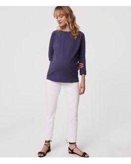 Petite Maternity Skinny Jeans In White