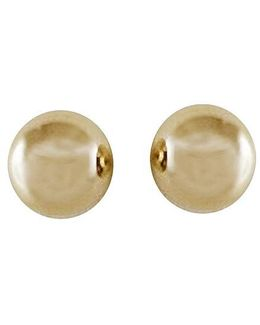 14 Kt. Yellow Gold Polished Ball Earrings