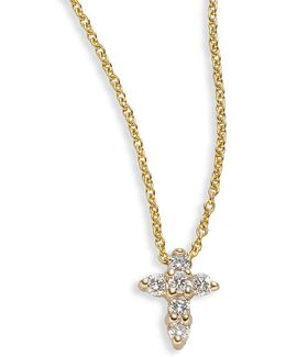Tiny Treasures Diamond & 18k Yellow Gold Mini Cross Pendant