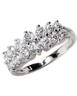Sterling Silver And Cubic Zirconia Marquise Ring