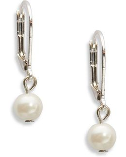 Faux Pearl Square Drop Earrings