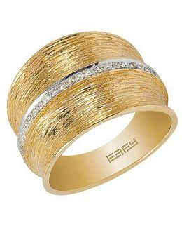 D Oro 14 Kt Gold Diamond Band