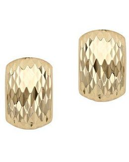 14kt. Yellow Gold Textured Earrings