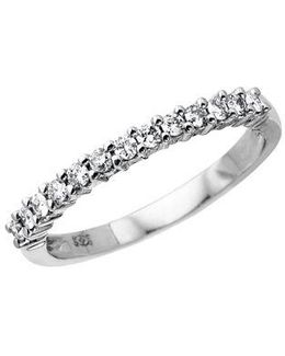 14 Kt. White Gold Diamond Pave Band