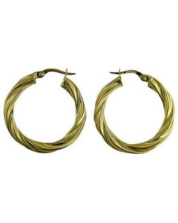 14 Kt. Yellow Gold Twist Hoop Earrings