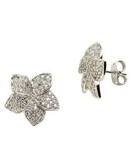 Sterling Silver And Cubic Zirconia Stud Earrings