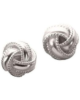 Sterling Silver Braided Knot Earrings