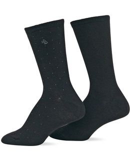 2-pack Supersoft Pindot Polo Trouser Socks