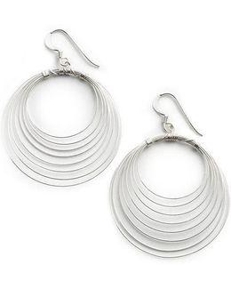 Sterling Silver Orbital Wire Earrings